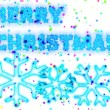 Merry christmas card with snowflakes — Stock Photo