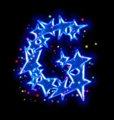 Christmas star alphabet - letter G — Stock Photo