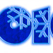 New year 2010 sign with snowflakes — Stock Photo