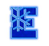 Winter snowflake alphabet - letter E — Stock Photo
