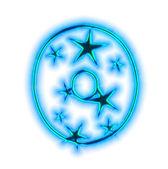 Vánoční hvězda písmo - číslo nula — Stock fotografie
