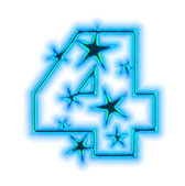 Christmas star font - number four — Stock Photo
