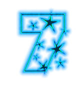 Christmas star font - number seven — Stock Photo
