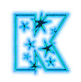 Christmas star font - letter K — Stock Photo