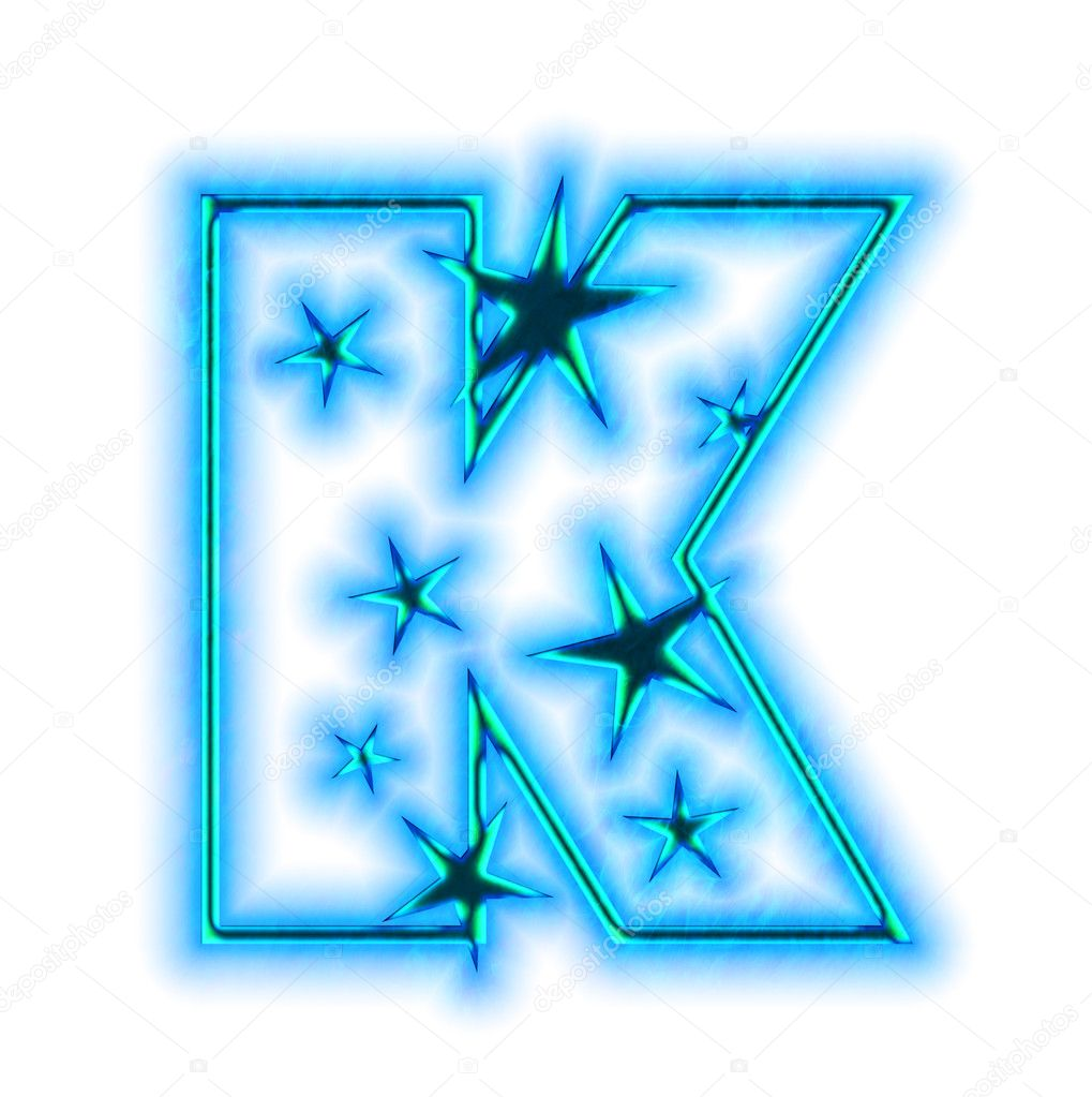 Christmas star font - letter K  K Letter In Different Fonts