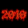 Gothic fire sign 2010 year — Stock Photo #1434556