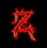 Gothic fire font - letter Z — Stock Photo