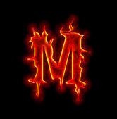 Gothic fire font - letter M — Stock Photo