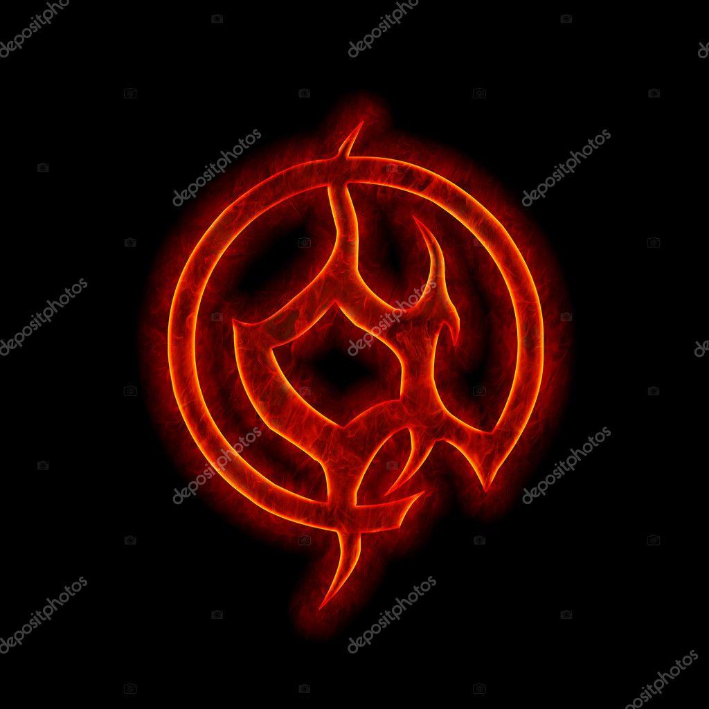 Devil Signs And Symbols Devil fire font - at web sign