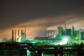 Nuclear station in russia at night — Stock Photo