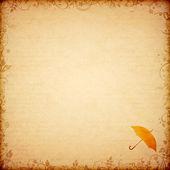 Antiguo grabado con sello de paraguas — Foto de Stock