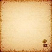 Květinové starověké karta s gramofon — Stock fotografie