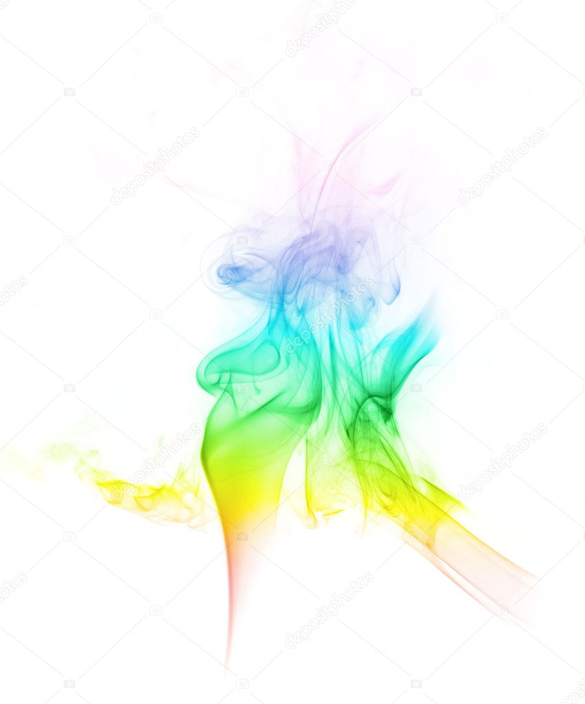 Colored smoke shot on white background — Stock Photo #1450307