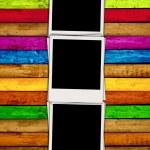 Blank Photos on Wood Background — Stock Photo #1133352