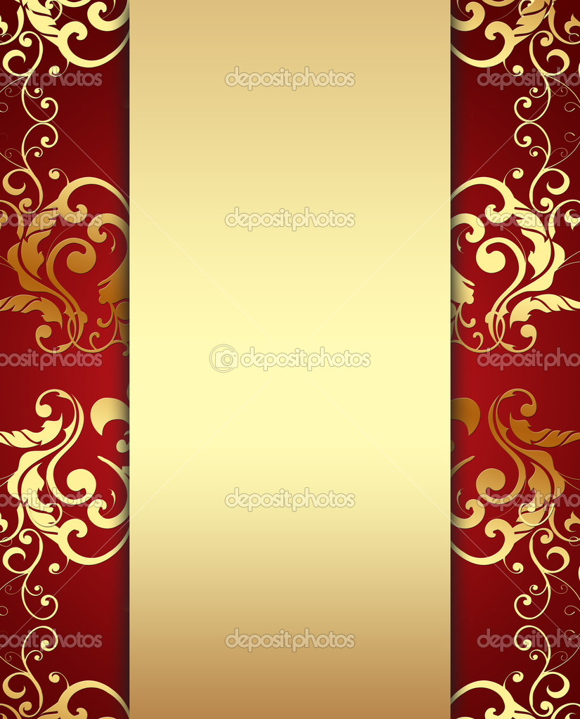 A luxurious background in red and golden colors  Stock Photo #1133367