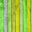 Stock Photo: Green Wooden Planks
