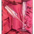 Royalty-Free Stock Photo: Crystal Champagne Flutes in Fancy Box