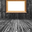 Vintage Frame in Wooden Room — Stockfoto