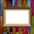 Vintage Frame on Wood Wall — Stock Photo