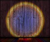 Spotlight on Old Wooden Planks — Stock Photo
