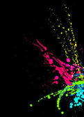 Paint splashes on Black — Stock Photo