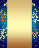 Elegant Golden Blue Background — Stock Photo