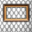 Blank Frame on Vintage Wallpaper — Stock Photo
