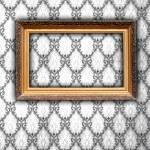 Blank Frame on Vintage Wallpaper — Stock Photo #1164387