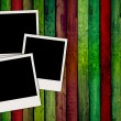 Royalty-Free Stock Photo: Blank Photos On Wooden Background
