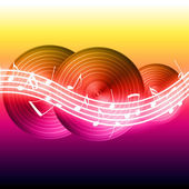 Flowing Music Notes — Stock Photo