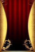 декоративный золотой фон — Стоковое фото