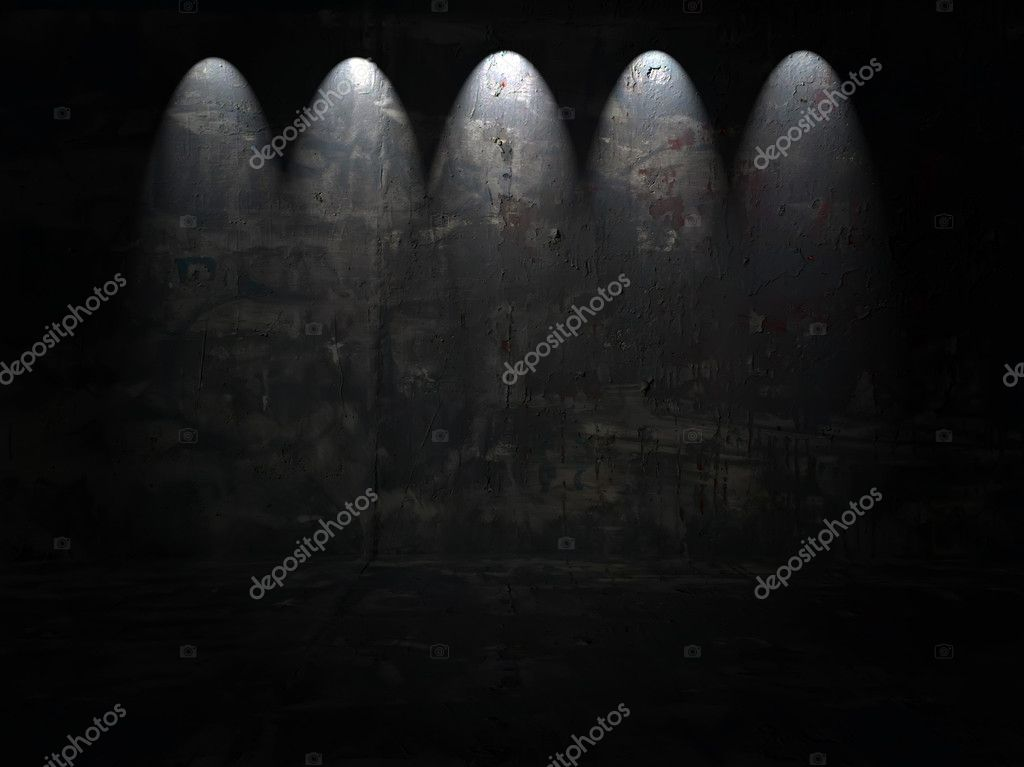 Dark Room With Five Spotlights  — Stock Photo #1164204