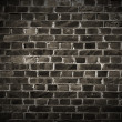 Dark Brick Wall - Foto de Stock  