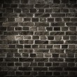 Dark Brick Wall - Stockfoto