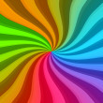 barevné zkroucené paprsky — Stock fotografie