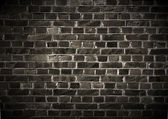 Dark Brick Wall — Stock fotografie