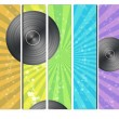 Rainbow Vinyl Record Background — Stock Photo