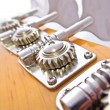 Stock Photo: Bass Guitar Tuning Mechanism