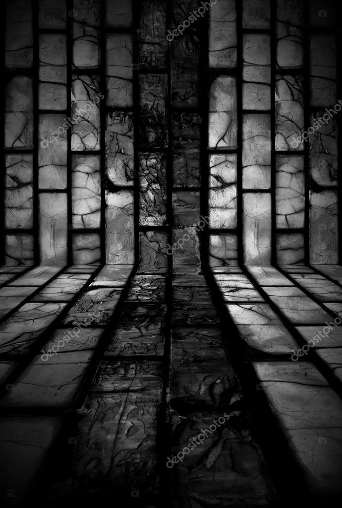 A dark tiled room as a background  Foto Stock #1277278