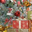 Gift Boxes Under Christmas Tree — Стоковое фото
