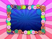 Bubbly Frame on Pink Background — Stock Photo