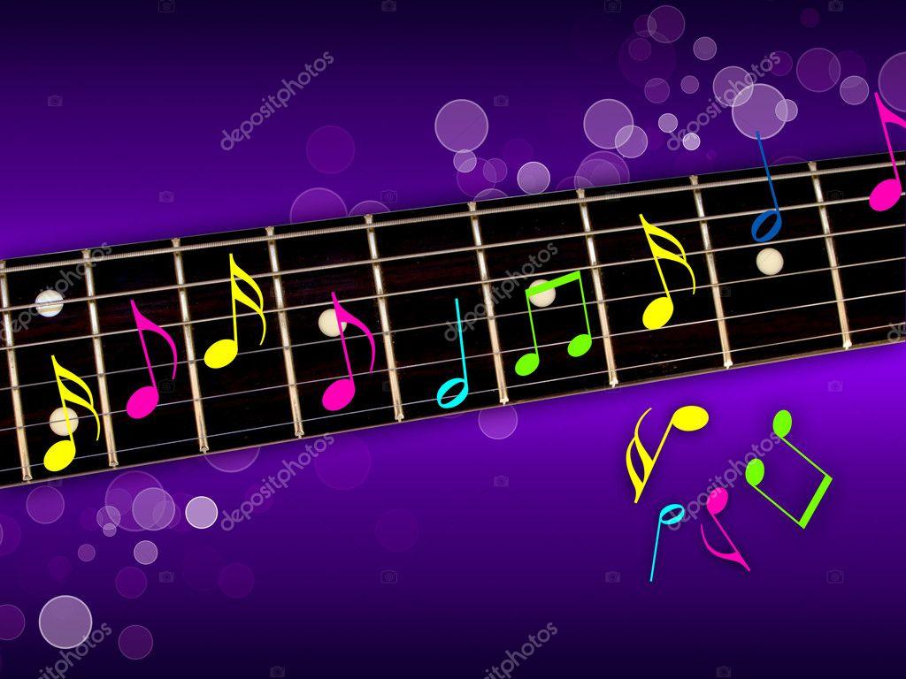 Note Musique Guitare Notes de Musique Colorées Sur