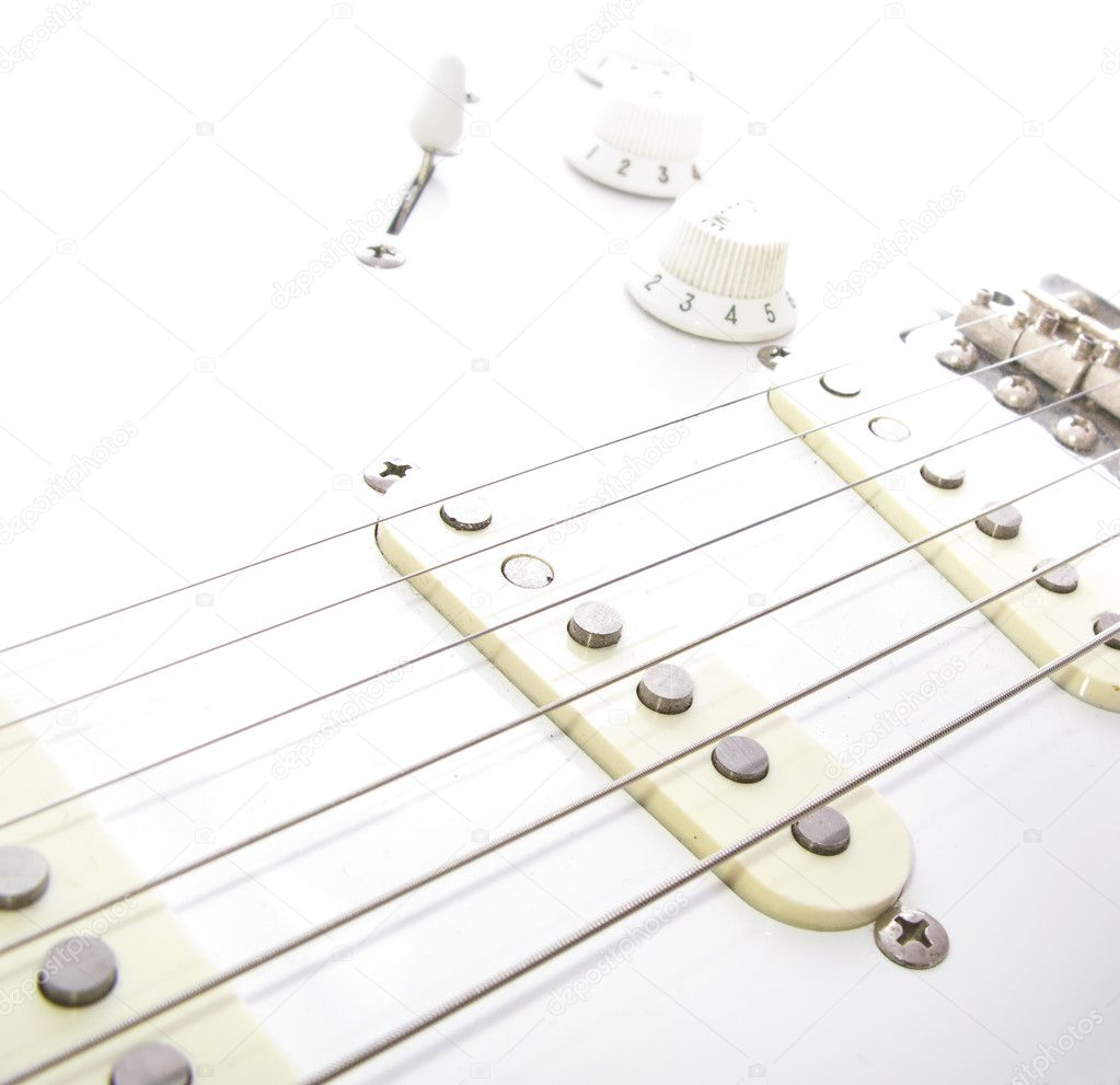 A macro shot of electric guitar strings — Stock Photo #1559765