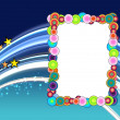 Colorful Frame on Space Background — Stock Photo