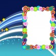 Colorful Frame on Space Background - Stock Photo