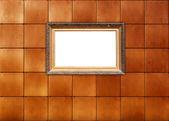 Picture Frame on Tiled Wall — Stock Photo