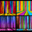 Set of colorful backgrounds - Stock Photo