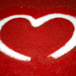 Heart on Red Sand — Stock Photo
