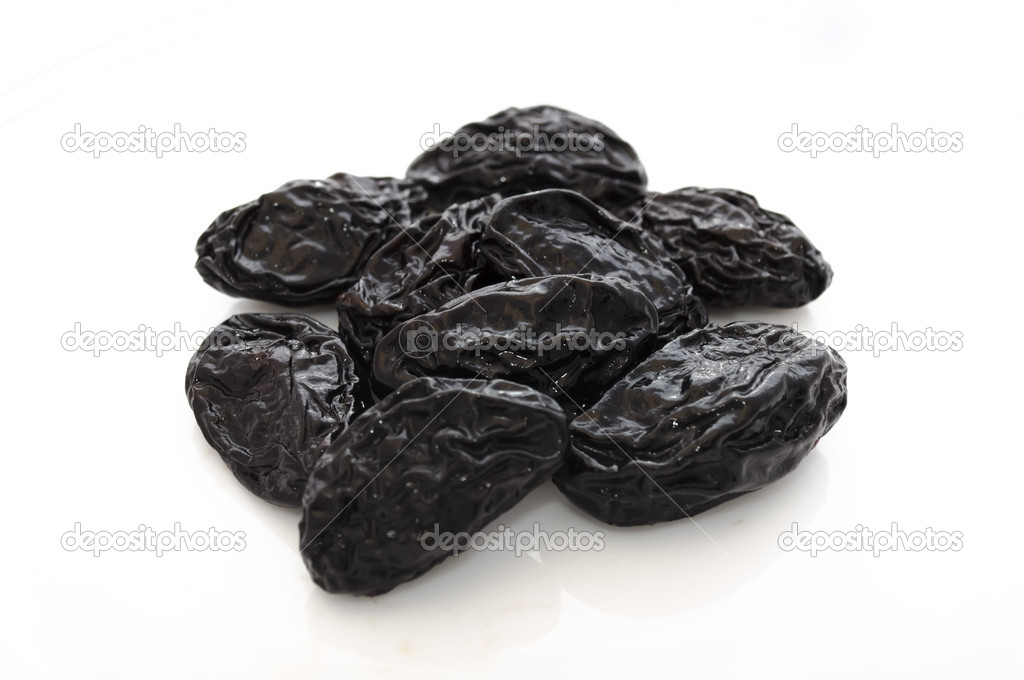 Prunes isolated on a white background  Stock Photo #1641866