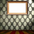 Blank Frame on Vintage Wallpaper — Stock Photo #1702250